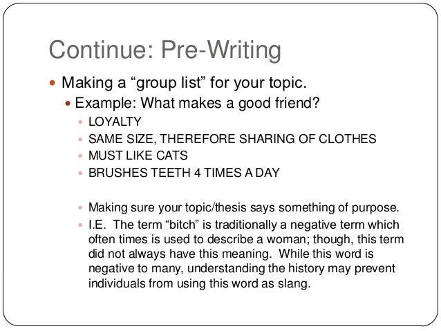 essay slang definition