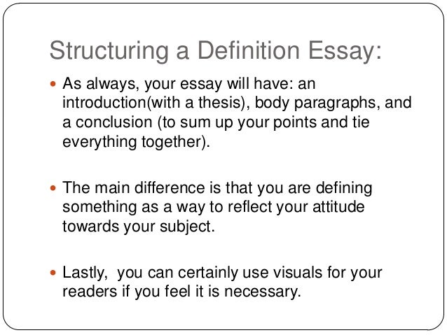 definition% essay  9 structuring a definition essay 
