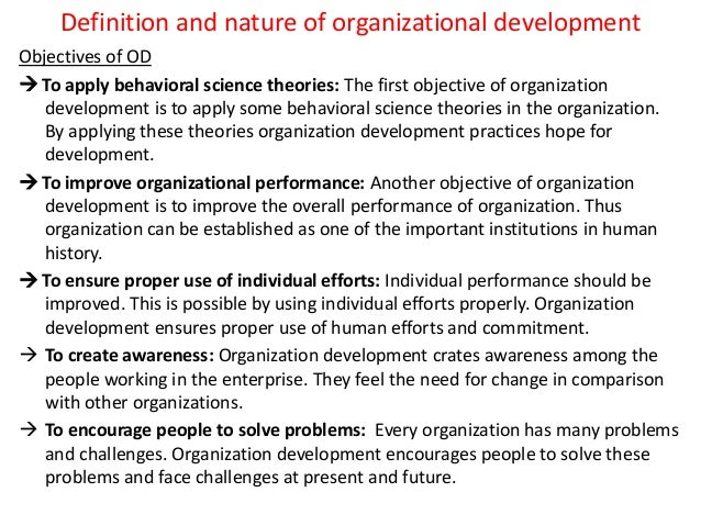 Definition and nature of organizational development