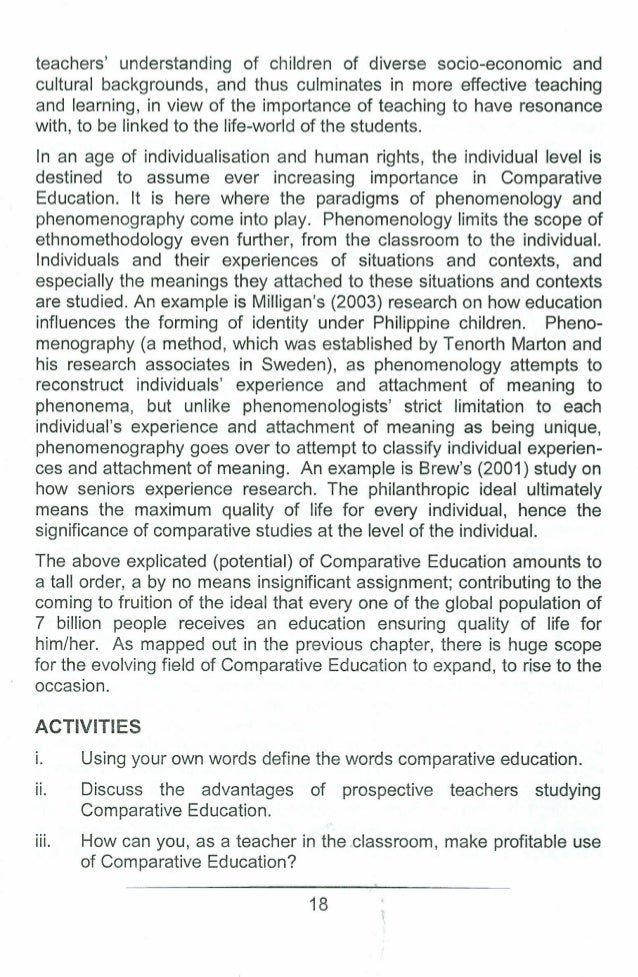 comparative education definition