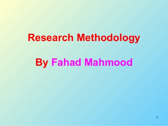 Definition and types of research ppt