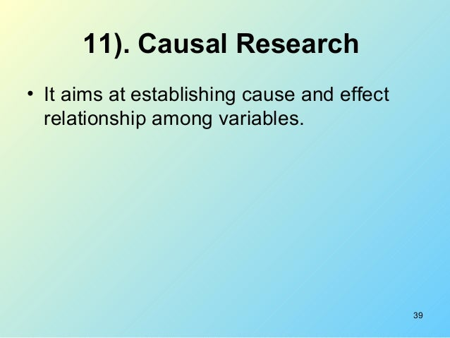 define causal research 1 explain the concept of causality as defined in marketing research and  distinguish between the ordinary meaning and the scientific meaning of causality.