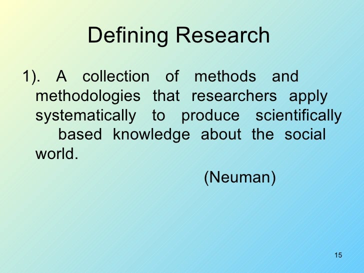 Definition of social research