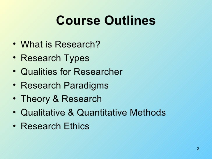 what are the types of research