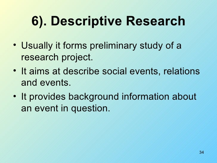 Definition and types of research