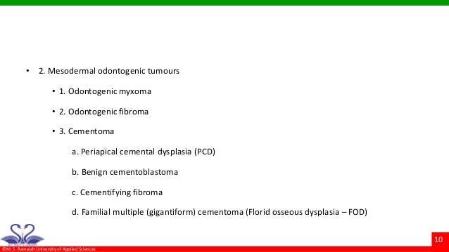 Compound Odontoma; 10.