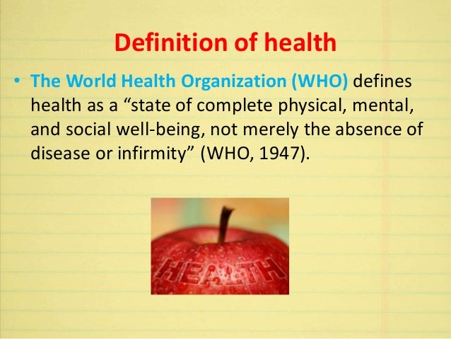 Definition & concept of health