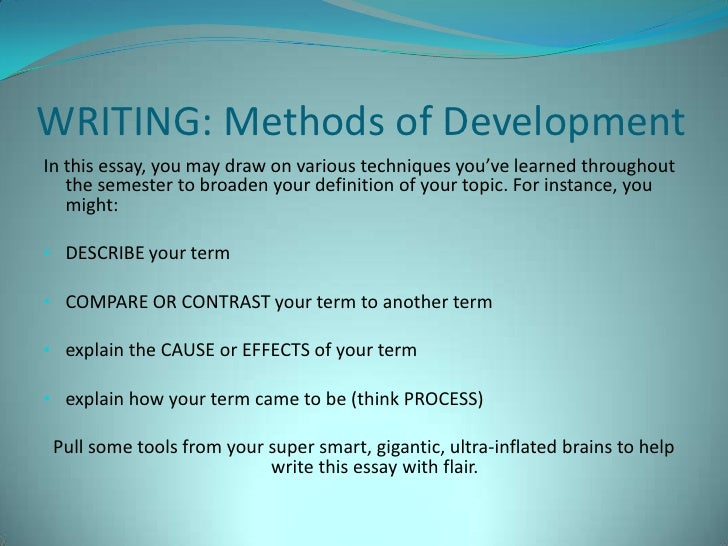 write the essay using the definition pattern of development It follows a pattern that is very logical and once you create the outline the essay can be easily completed  how to write a cause and effect essay that gets you .