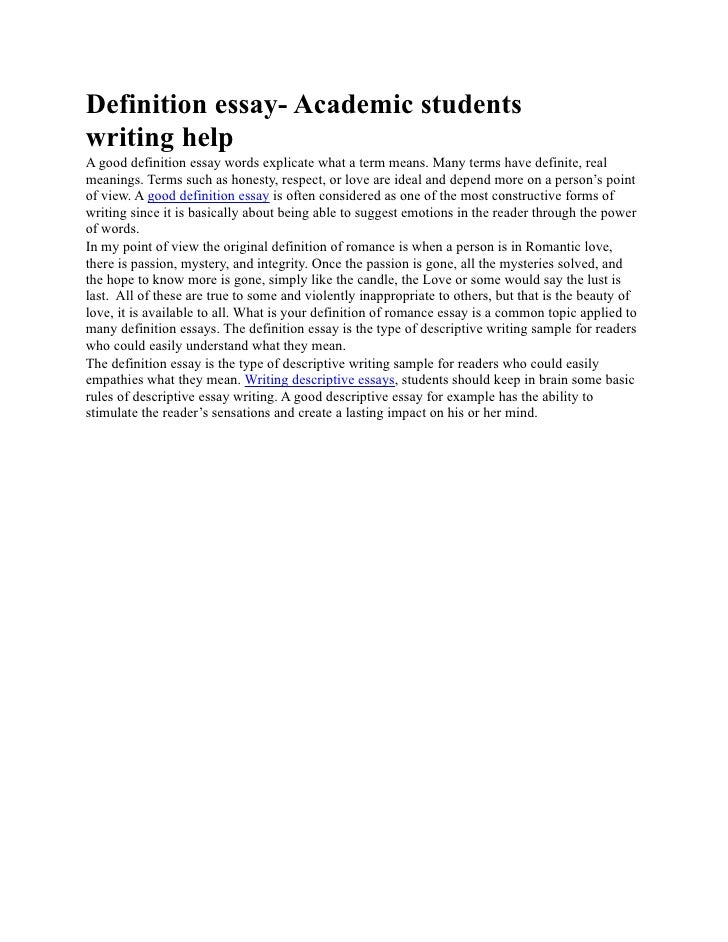 definition essay academic students writing help definition essay academic students writing help a good definition essay words explicate what a term