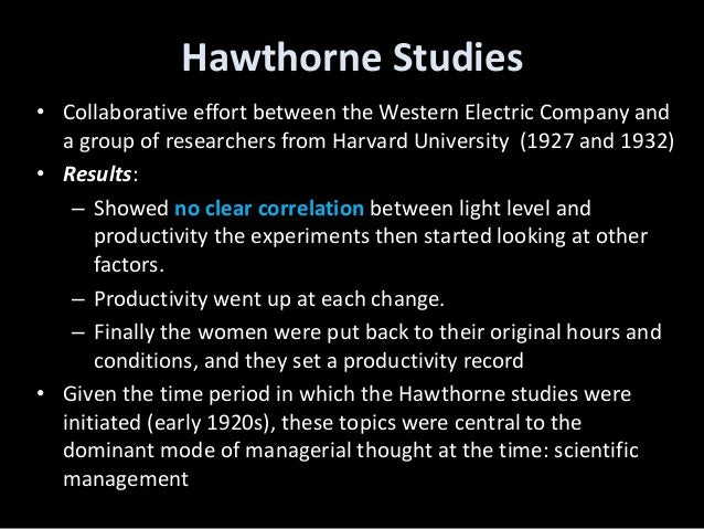 what is the hawthorne effect in psychology