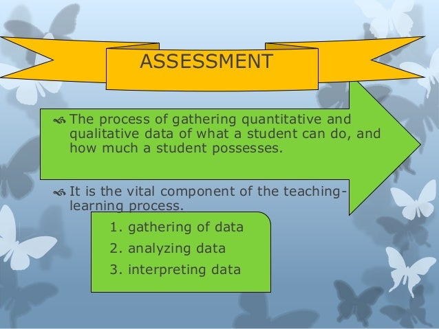 definition of assessment The nature of assessment: the definitions of assessment assessment is widely  agreed to be of great importance, but that is where agreement ends and.