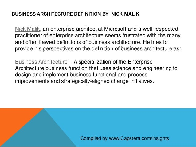 definition of business architecture