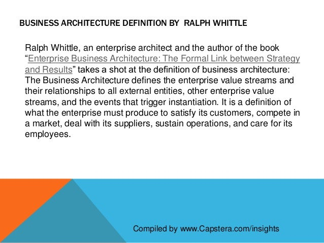 Definition of business architecture for Anarchitecture definition