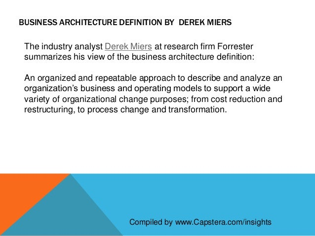 Definition of business architecture for Architecture definition