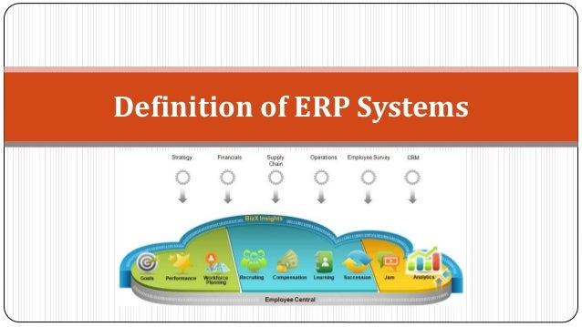 Definition of ERP Systems