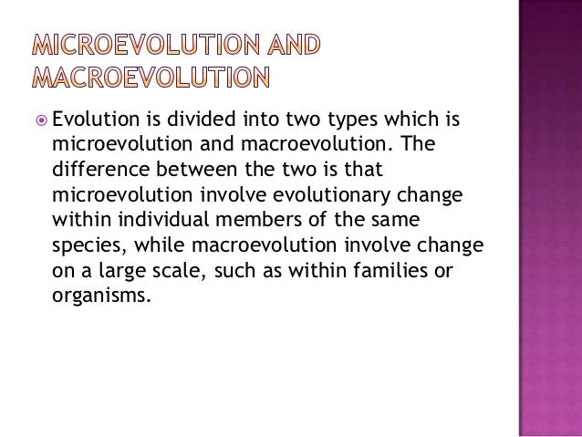 a study of microevolution and macroevolution