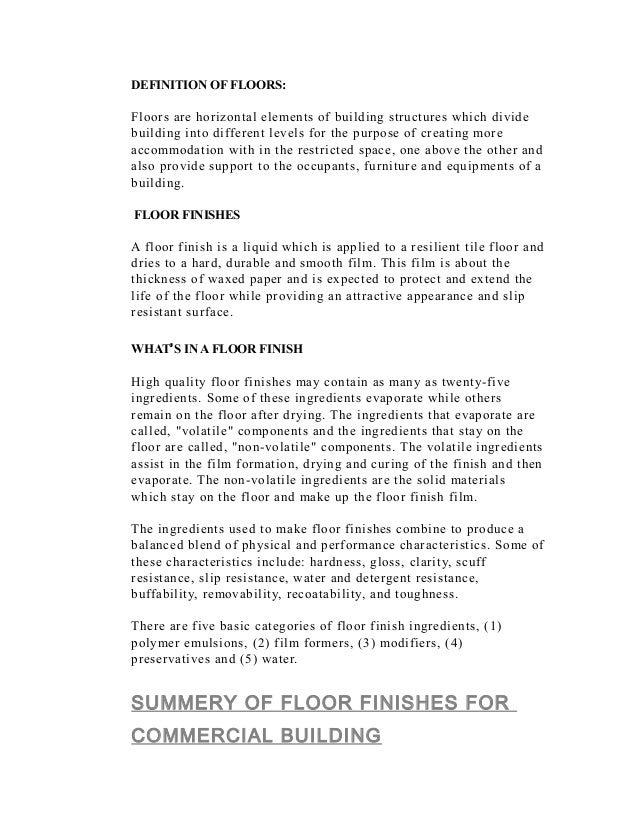Definition Of Floors