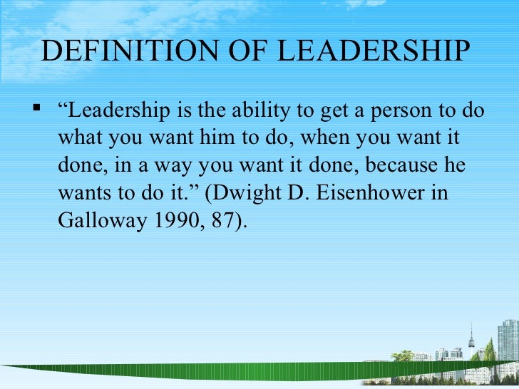 definitions of leadership What is leadership chapter 2 will briefly look at how leadership is defined  there are almost as many different definitions of leadership as there are.