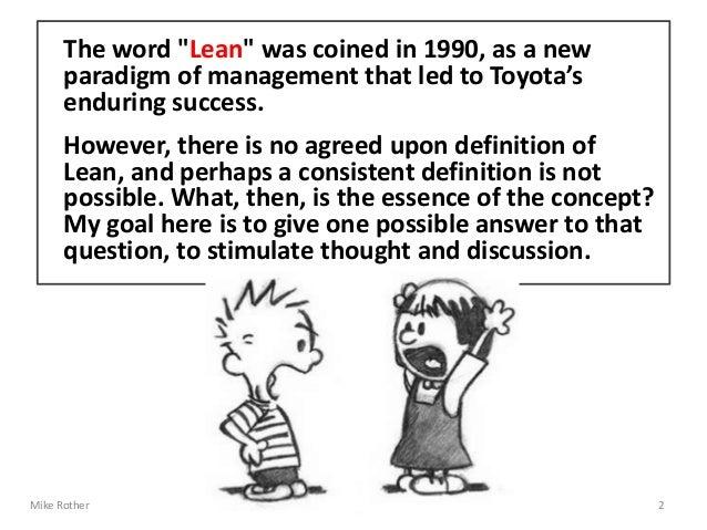 """A Definition of """"Lean"""" - Part 1 Slide 2"""