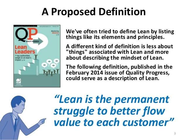 """A Definition of """"Lean"""" - Part 1 Slide 3"""