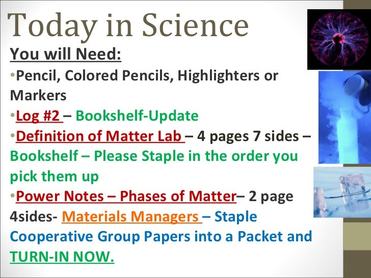 matter definition lab science pencil slideshare need colored