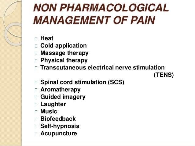 nursing management of a patient with pain