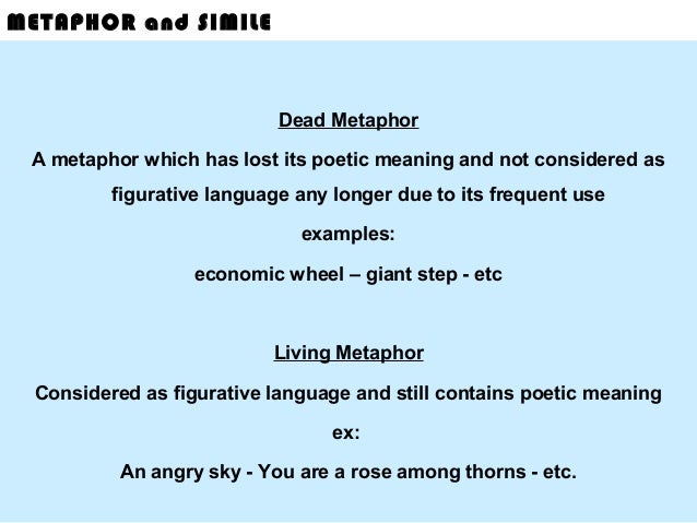 death metaphors and similes