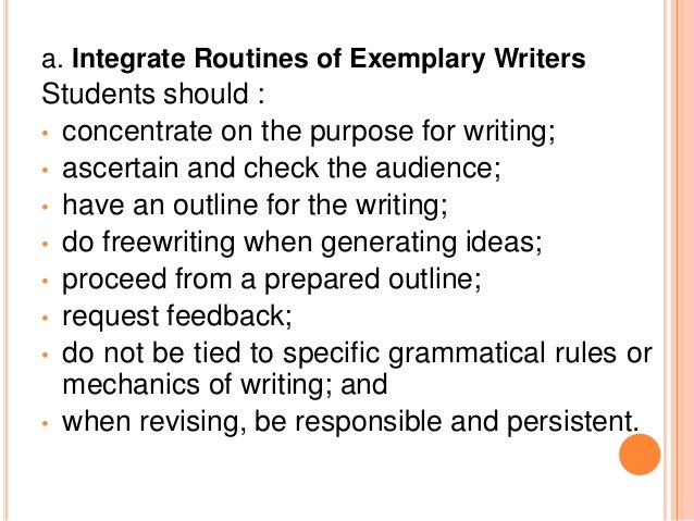 Superb 2.5 PRINCIPLES FOR PLANNING WRITING TECHNIQUES; 15. ...
