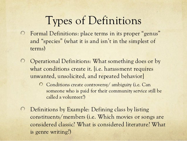 arguing for a definition essay presentation 6 developing definitional argumentsformulating
