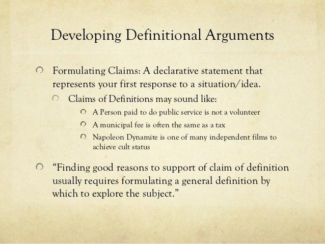 Arguing for a Definition Essay Presentation