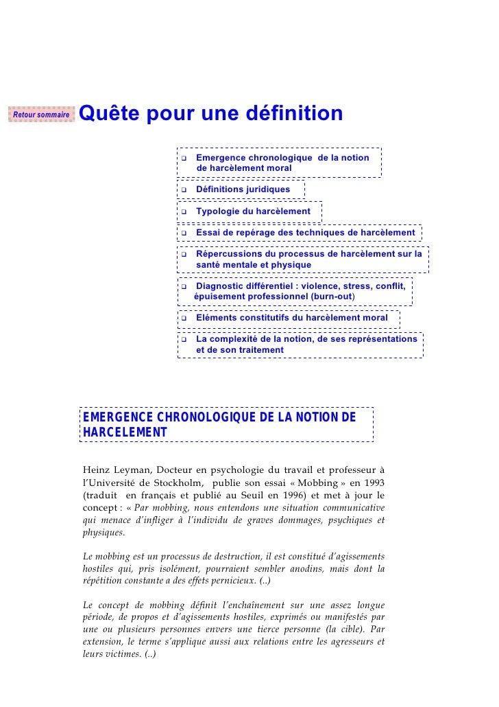 Retour sommaire   Quête pour une définition                                              Emergence chronologique de la not...