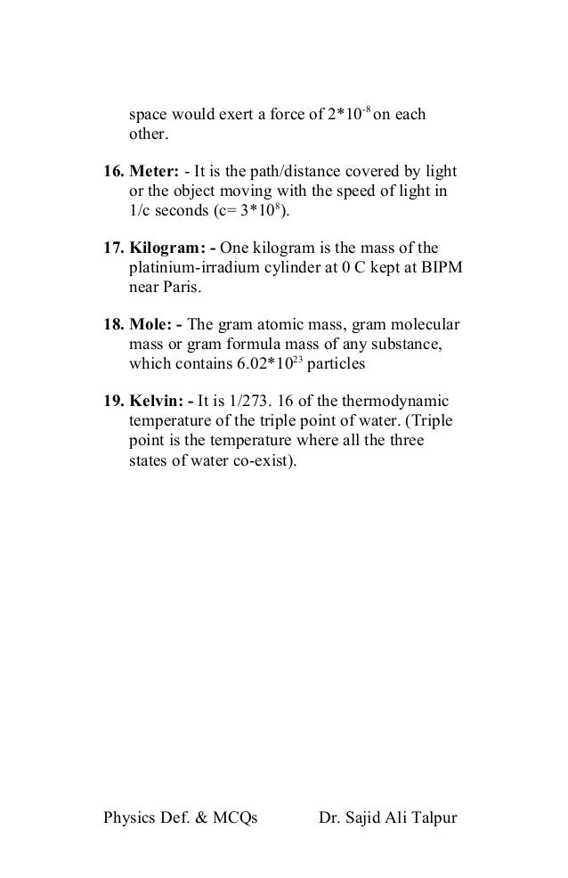 Ptb 10th class physics notes solved question answers amp