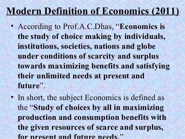 robinson definition of economics