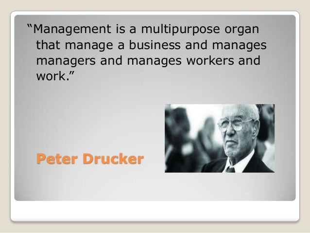 definition of management by scholars