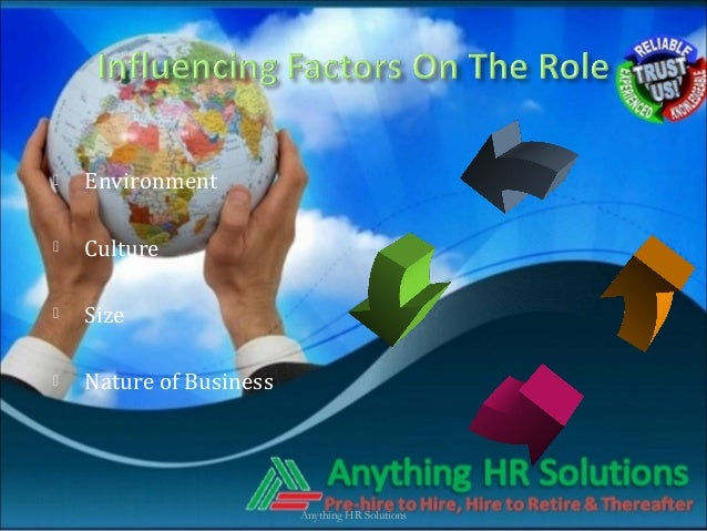  Environment Culture Size Nature of BusinessAnything HR Solutions