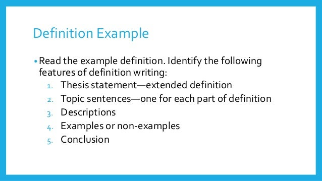 definition essay examples success