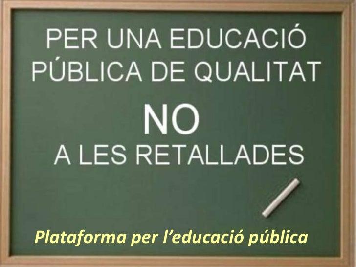 Plataforma per l'educació pública