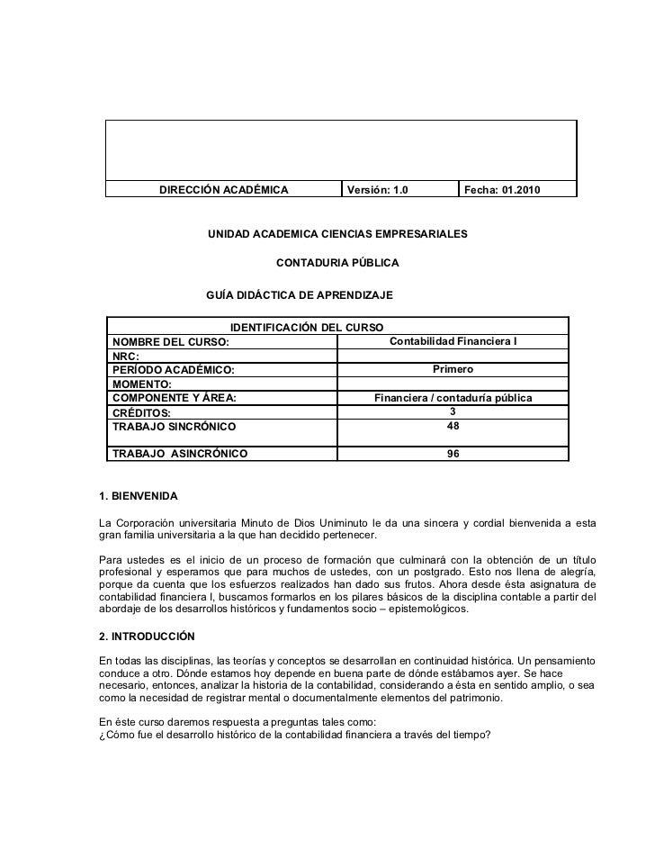 DIRECCIÓN ACADÉMICA                      Versión: 1.0              Fecha: 01.2010                       UNIDAD ACADEMICA C...