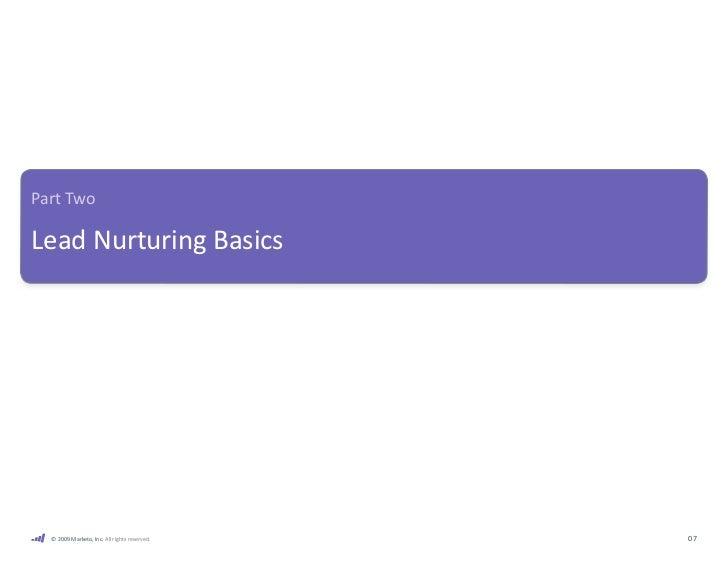 Part Two Lead Nurturing Basics                                                           s                   s08