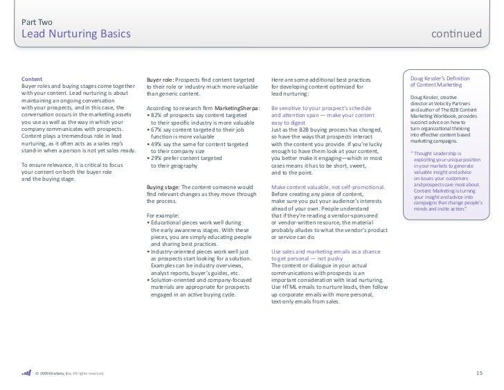 Part Two Lead Nurturing Basics                                                                                        ...