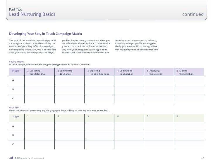 Part Two Lead Nurturing Basics                                      .               1  Loosening                   ...