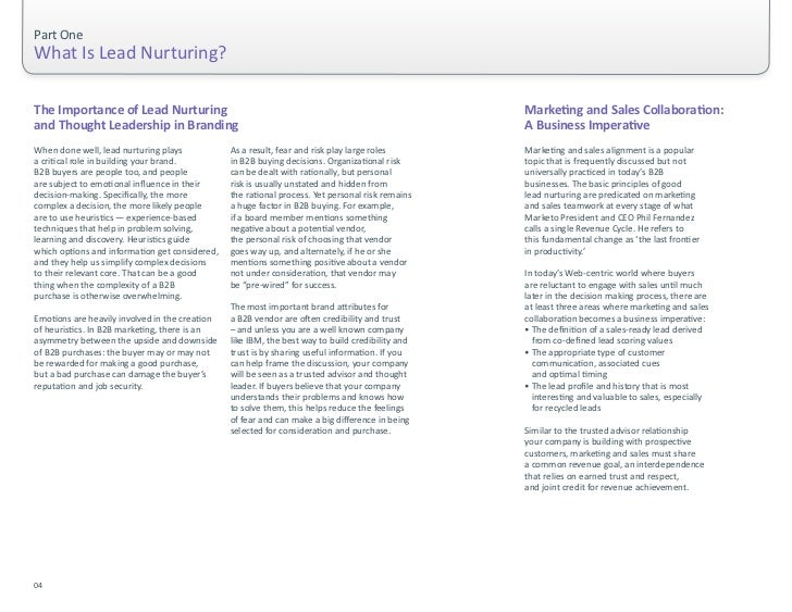 Part One                                                                                 What Is Lead Nurturing?   ...