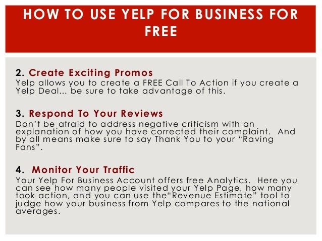 Definitive (free) yelp for business guide