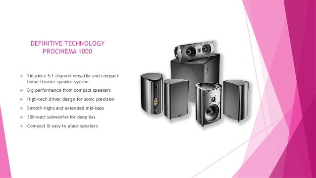 Definitive Technology Pro Cinema Home Theater System