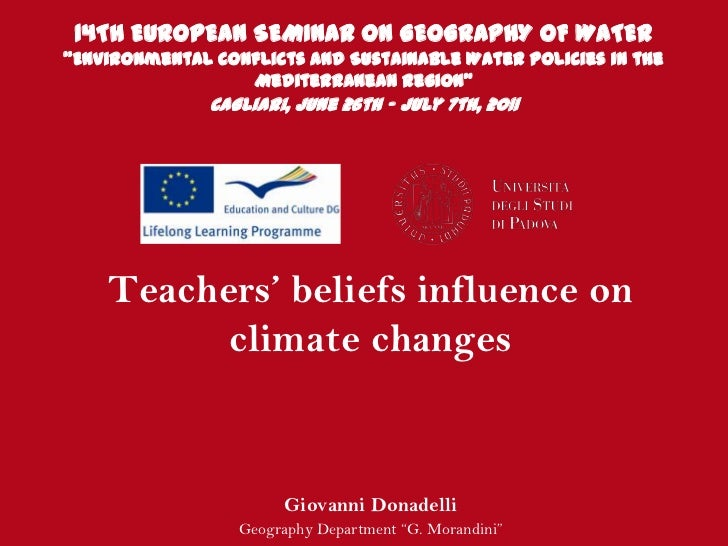 "14TH EUROPEAN SEMINAR ON GEOGRAPHY OF WATER""Environmental Conflicts and Sustainable Water Policies in the                 ..."