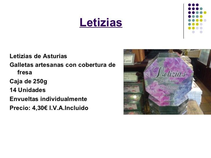 LetiziasLetizias de AsturiasGalletas artesanas con cobertura de   fresaCaja de 250g14 UnidadesEnvueltas individualmentePre...