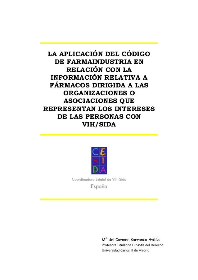 LA APLICACIÓN DEL CÓDIGODE FARMAINDUSTRIA ENRELACIÓN CON LAINFORMACIÓN RELATIVA AFÁRMACOS DIRIGIDA A LASORGANIZACIONES OAS...