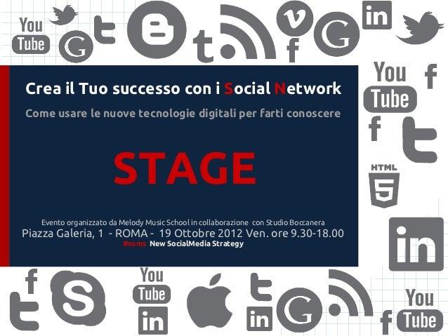 Crea il Tuo successo con i Social NetworkCome usare le nuove tecnologie digitali per farti conoscere                      ...
