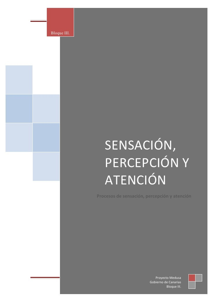 SENSACIÓN, PERCEPCIÓN Y ATENCIÓNBloque III.                  SENSACIÓN,                  PERCEPCIÓN Y                  ATE...