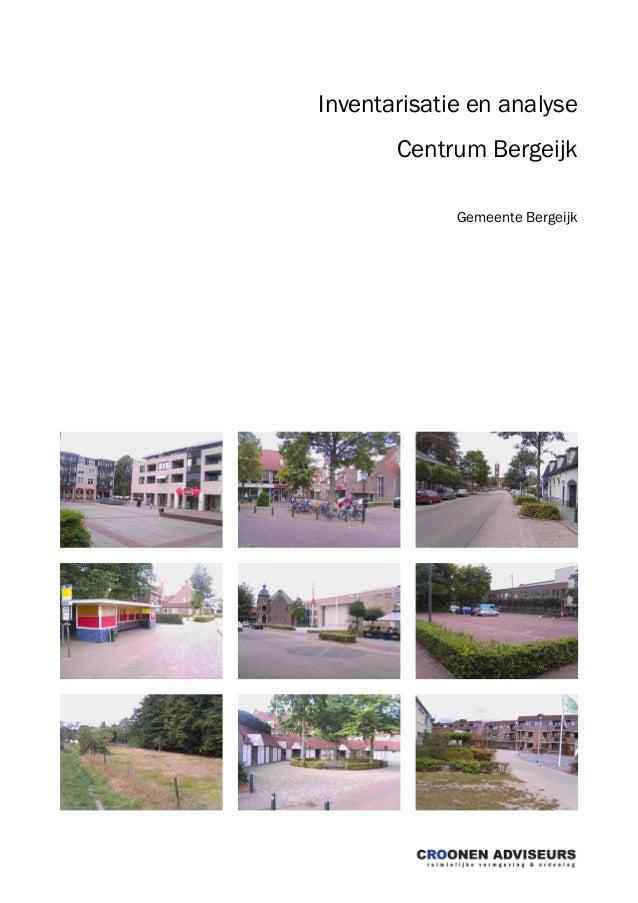 Inventarisatie en analyse Centrum Bergeijk Gemeente Bergeijk